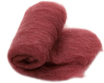 Plum color needle felting wool batting Dyed Carded Wool Purple wool batt Carded Fiber Plum felting batt Newborn photo prop wool fluff layer