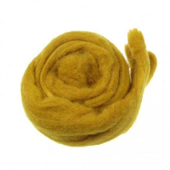Mustard yellow needle felting wool batting Dyed Carded Wool yellow wool batt Carded Fiber mustard felting batt Newborn photo prop wool fluff
