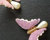 Two Butterfly Dress Clips...