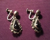 Silver Teardrop Drop Earr...