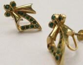 Green Earrings, vintage: ...