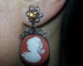 Cameo Earrings, vintage, ...