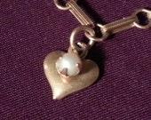 Heart Charm Bracelet, wit...