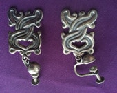 Serpentine Silver Earring...