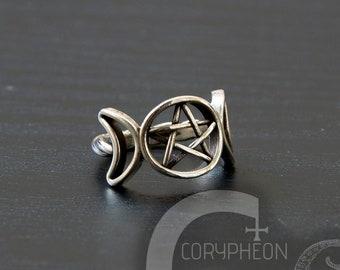Moon Goddess Ring Etsy