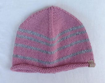 Pink wool Winter hat