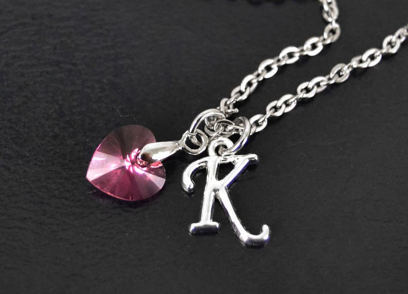 a0445941fd14 October Birthstone Necklace Pink Personalized Birthstone