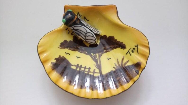 Periods & Styles France Vintage Art Nouveau Cicada Ceramic Vase By Tess Art Nouveau
