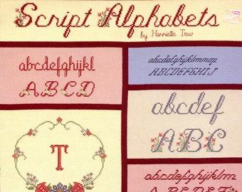 Script Alphabets by Harriette Tew (cross stitch) | Craft Book