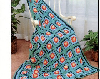 Fire & Ice crochet afghan pattern from Annie's Attic | Craft Leaflet