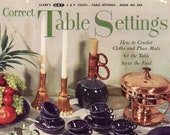 Correct Table Settings From The Spool Cotton Company - Book No. 260 (crochet, Entertaining)  | Vintage Craft And Home Economics Book