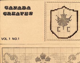 Canada Creates craft magazine, Vol. 1, No. 1 | Vintage Craft Magazine