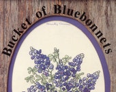 Bucket Of Bluebonnets Cross Stitch Pattern From Country Cousins | Craft Pattern