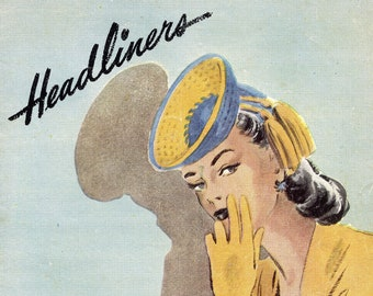 Headliners from Spool Cotton Company, Book No. 215 (crochet) | Vintage Craft Book