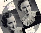 Stunning Accessories Crocheted And Knitted  From American Thread Company, Designed By Cecilia Vanek | Vintage Craft Leaflet