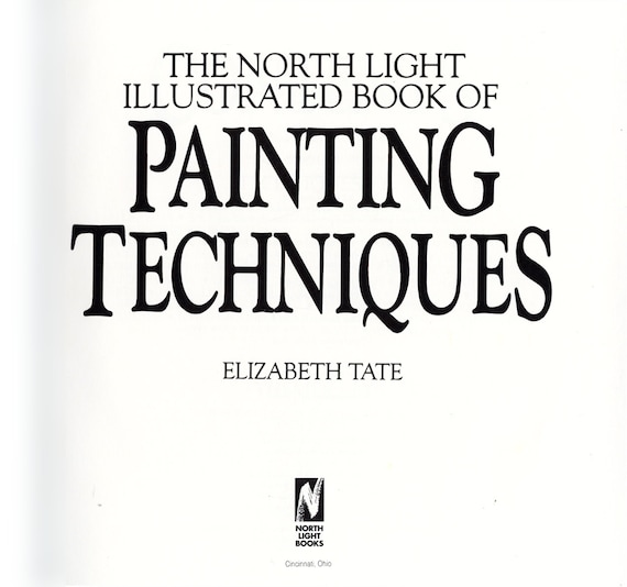 the north light illustrated book of painting techniques by etsy