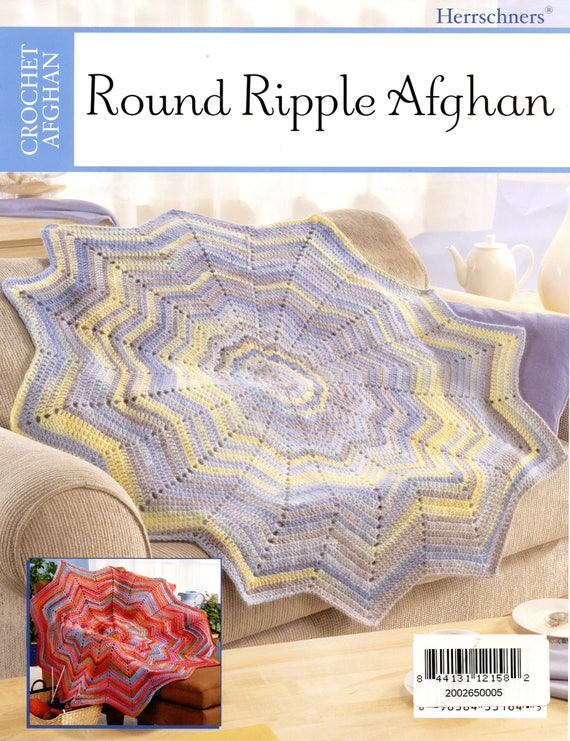 Round Ripple Afghan Pattern Sheet From Herrschners Etsy