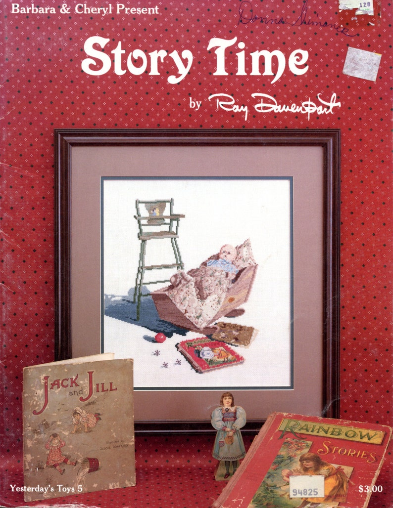 cross stitch Yesterday/'s Toys #5 Story Time by Ray Davenport