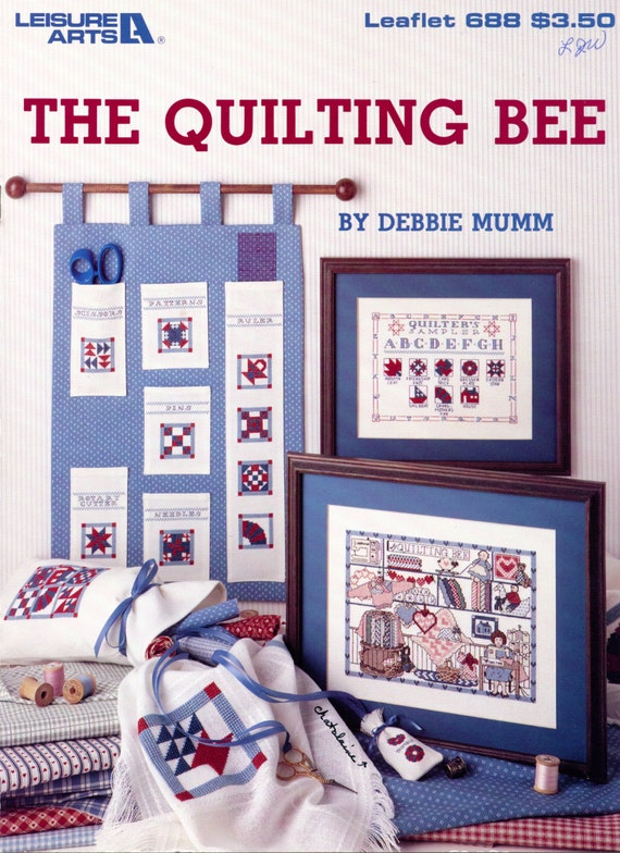 The Quilting Bee Cross Stitch By Debbie Mumm Leisure Arts Etsy