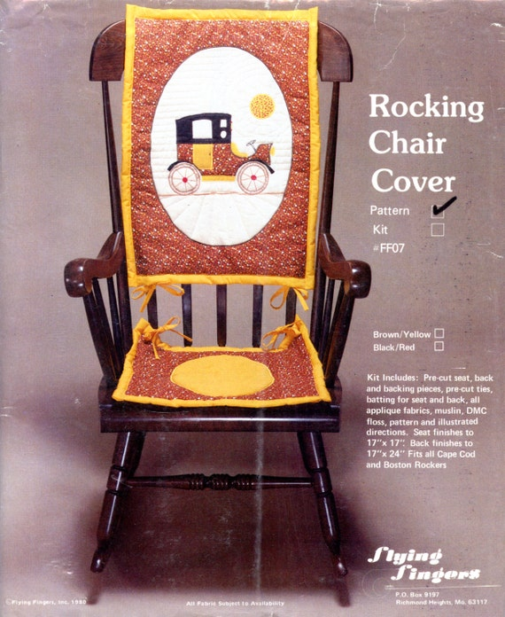 Astounding Rocking Chair Cover Applique Quilting Pattern By Flying Fingers Lamtechconsult Wood Chair Design Ideas Lamtechconsultcom