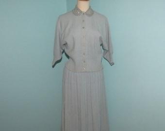 1950's Serbin Knit Skirt and Top Set, Knit Dress