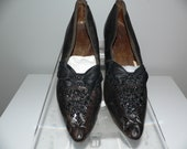 Victorian 1870 39 s Beaded Leather Shoes