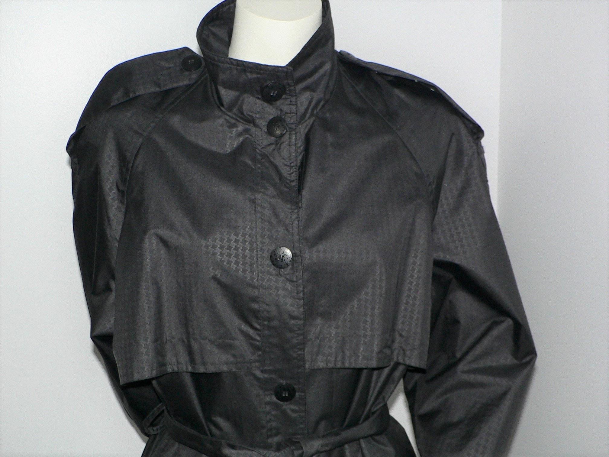 Vintage Scarf Styles -1920s to 1960s Vintage 70S Givenchy Sport Black Trenchcoat, Size M - L $0.00 AT vintagedancer.com