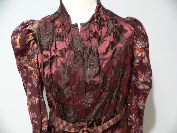 Gorgeous Antique Victorian 1890's Silk Beaded and