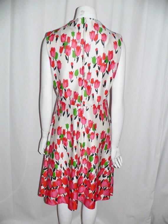 1970's  Polyester Emilio Borghese Tulip Dress - image 4