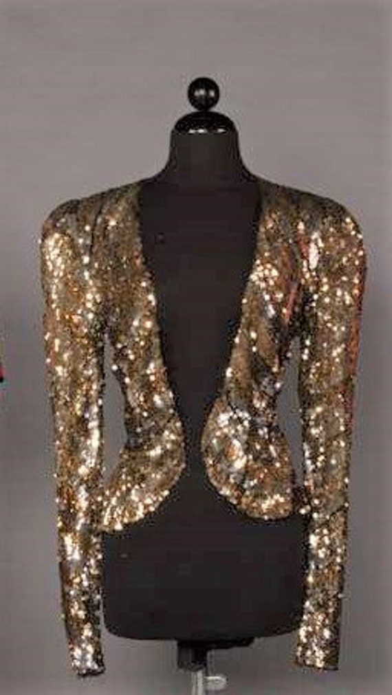 1930's Gold and Silver Sequinned Jacket XS