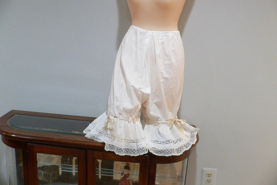 Antique Split Crotch Pantaloons / Bloomers  with V