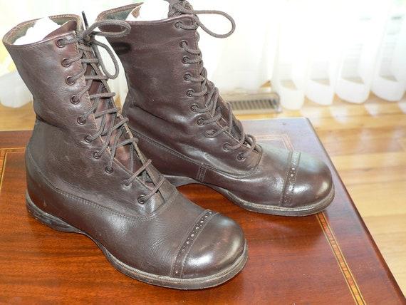 Antique Edwardian Lace Up Child Boots