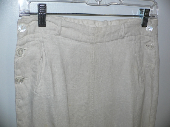 1920's Linen Golf Knickers / Golf Pants Waist 31 i