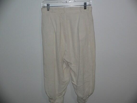 1920's Linen Golf Knickers / Golf Pants Waist 31 … - image 4