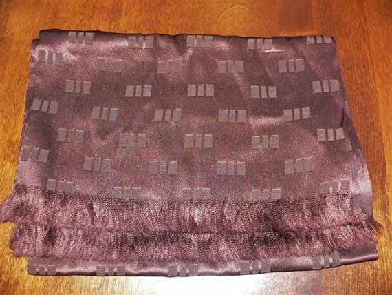 Vintage Men's Brown Satin Neck Scarf