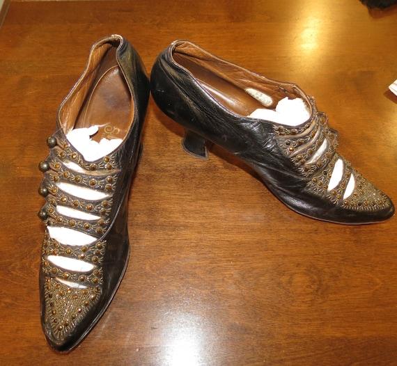 Ewardian Beaded Shoes by Sorosis Copper beaded Edw