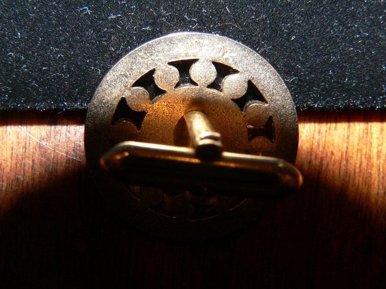 Vintage Swank Gold Tone Cuff Links