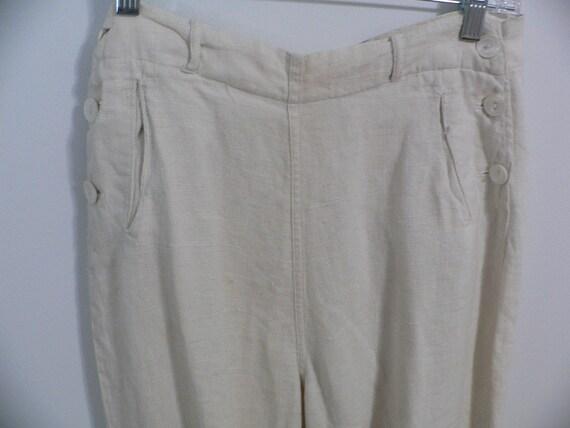1920's Linen Golf Knickers / Golf Pants Waist 31 … - image 6