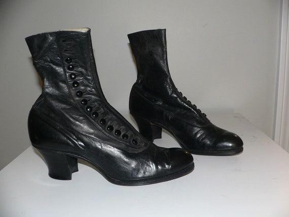 Antique Edwardian Side Button Boots New Old Stock.