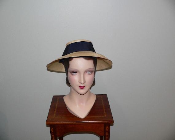 Vintage  1940's Ladies Straw Hat , RH White , Bost