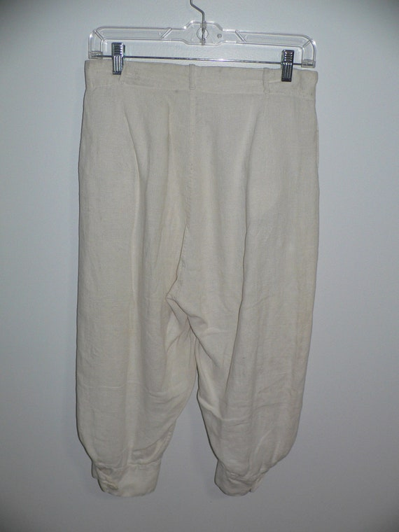 1920's Linen Golf Knickers / Golf Pants Waist 31 … - image 3