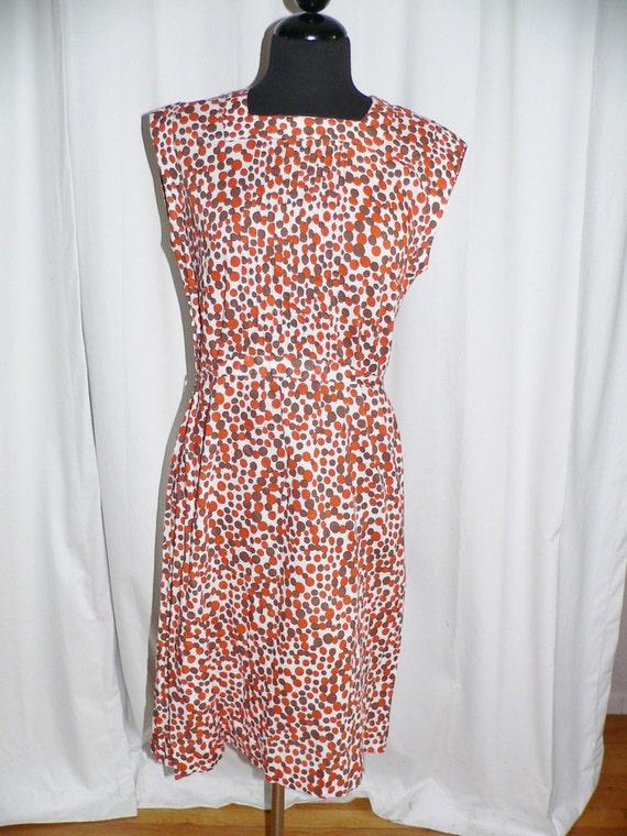 1950's Cotton Polka Dot Summer Dress