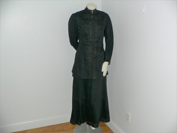 Edwardian Wool Walking Suit With Soutache Trim and