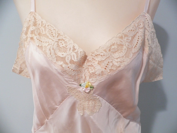 1920's Step In Chemise Teddy, Rayon Step In Nightg