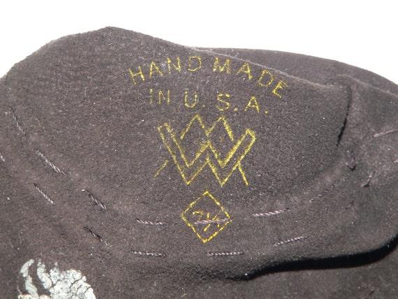 1940's Dark Brown Suede Gauntlet Gloves w Beading - image 5