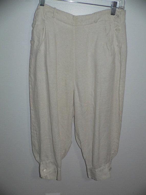 1920's Linen Golf Knickers / Golf Pants Waist 31 … - image 2