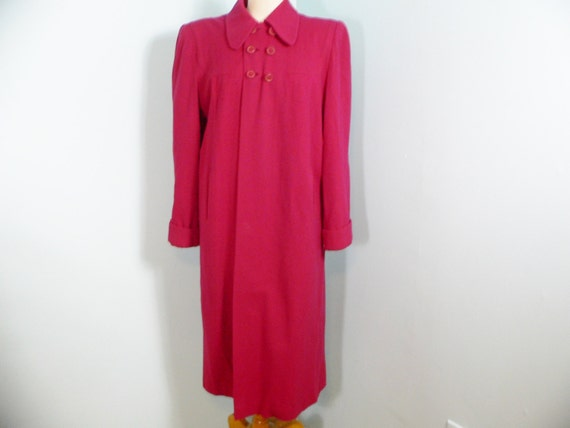 1940's Cherry Red  Swing Coat