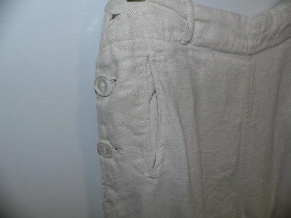 1920's Linen Golf Knickers / Golf Pants Waist 31 … - image 5