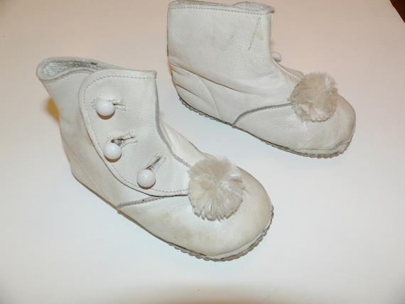 Antique Edwardian Childrens Side Button Shoes / Si