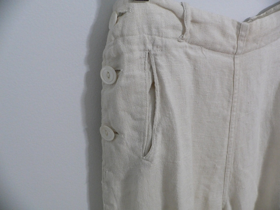 1920's Linen Golf Knickers / Golf Pants Waist 31 … - image 7